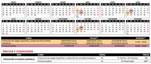 CALENDARIO 2018 DE CURSOS DE FORMACIÓN PRESENCIAL A BTC – BARCELONA PREVENCIÓN