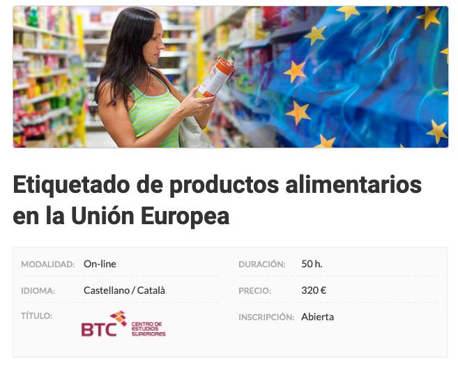 Etiquetado de productos alimentarios en la Unión Europea