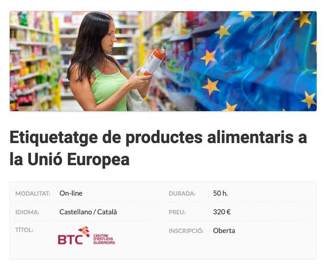 Etiquetatge de productes alimentaris a la Unió Europea